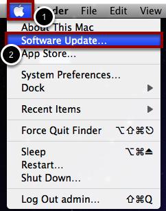 "Open ""Software Update"""