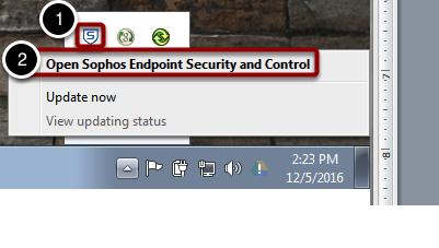 After Sophos Updates, Open Sophos