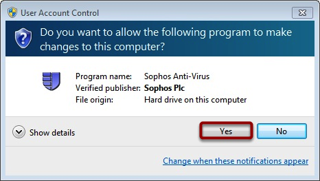 "Click ""Yes"" to Authenticate if This Window Appears"