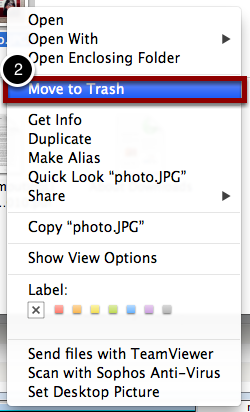 "Move Items in the ""Updates"" Folder to Trash"