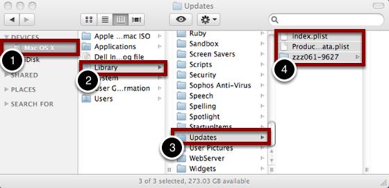 "Navigate to ""Updates"" Folder"