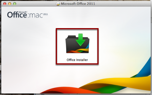 "Double-Click the ""Office Installer"""