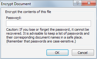 Choosing the Password