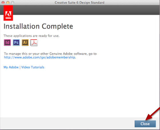 After Installation is Complete, click Close.