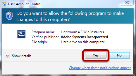 """Select """"Yes"""""""