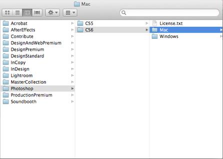Connect to smb://software.oc.edu/dist/Adobe/Photoshop/CS6/Mac