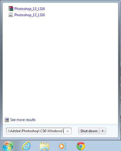 Connect to \\software.oc.edu\dist\Adobe\Photoshop\CS6\Windows\