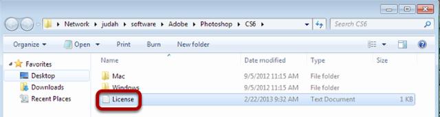 Open the License file
