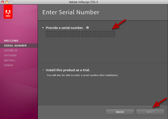 Provide a Serial Number