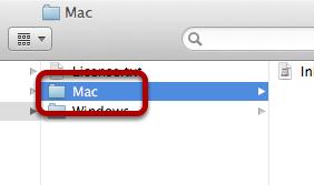 """Select """"Mac"""""""