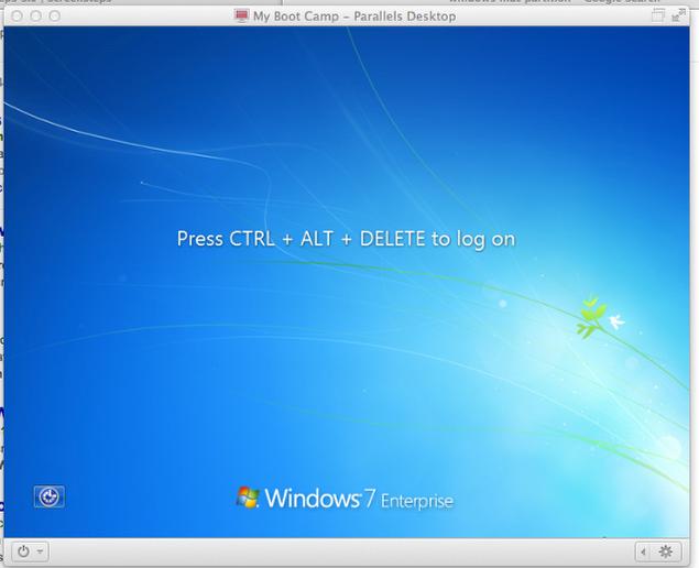 Press Ctrl+Alt+Delete to Reach the Log In Screen