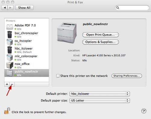 Select the Printer