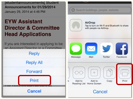 """Select """"Print"""" from the Menu"""