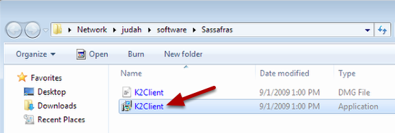 Run the K2Client installer