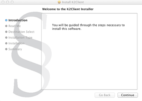Install K2 Client