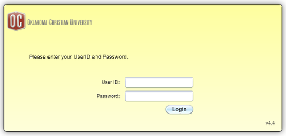 Enter your network username and password
