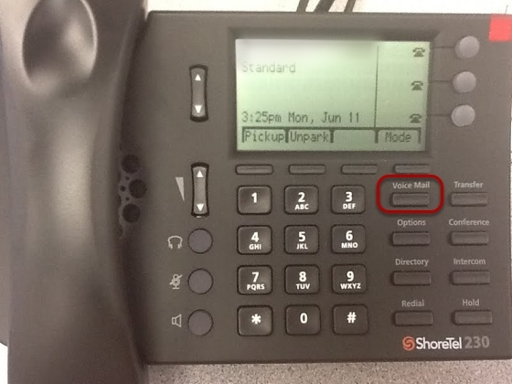 Access your ShoreTel Voicemail