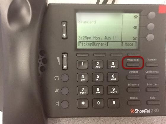 Access your ShoreTel Voicemail