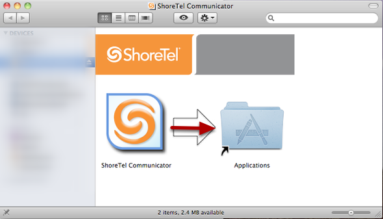 Copy Shoretel Communicator to your Applications folder