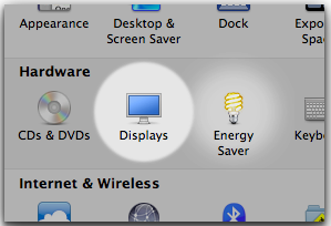 Open Display Preferences