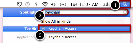 "Open ""Keychain Access"""