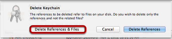 "Click ""Delete References & Files"""