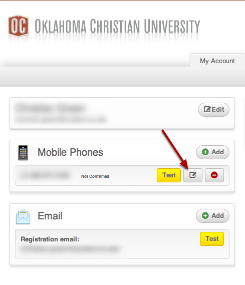 Confirm your mobile phone