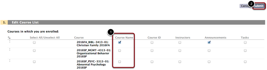 Choose Which Courses You Can View