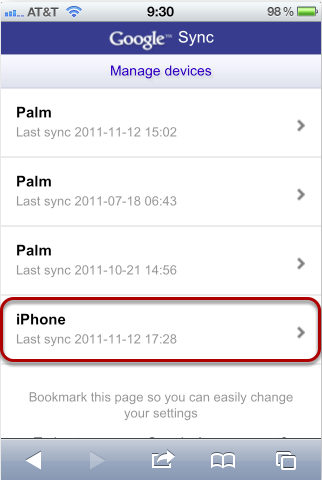 Select Which Device You Want to Change Your Settings On (iPhone)