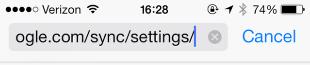 Go to http://m.google.com/sync/settings