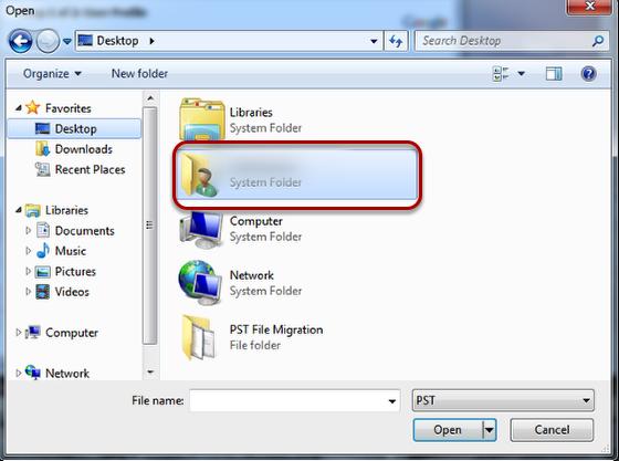 Make sure Desktop is selected.