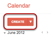 "In your Google Calendar, click the ""Create"" button."