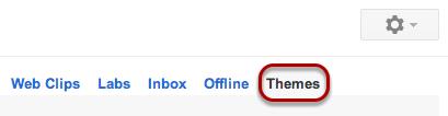 """Select """"Themes""""."""