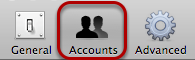 "Select ""Accounts""."