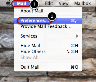 """In the top left corner click """"Mail"""""""
