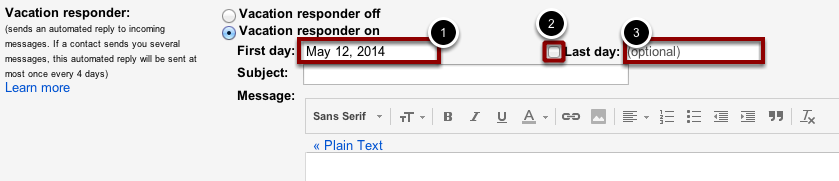 how to make an out of office on gmail