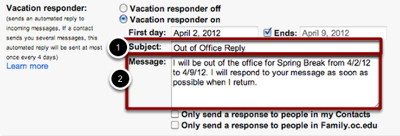 """Enter the subject and body of your message in the """"Subject:"""" and """"Message:"""" fields."""