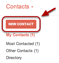 """Click the """"New Contact"""" button in the top-left corner."""