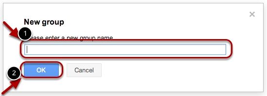 Enter the name of the group, and click OK.
