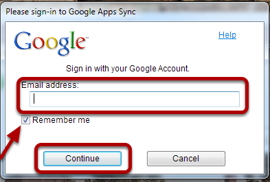 Another dialogue box will pop up and ask for you to sign in with your Google email and password.