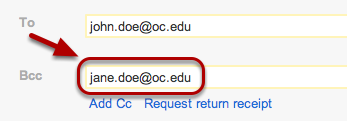 "Enter additional e-mail addresses in the same format as the ""To:"" field."