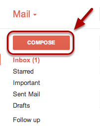 """Click """"Compose Mail"""" to create a new message."""