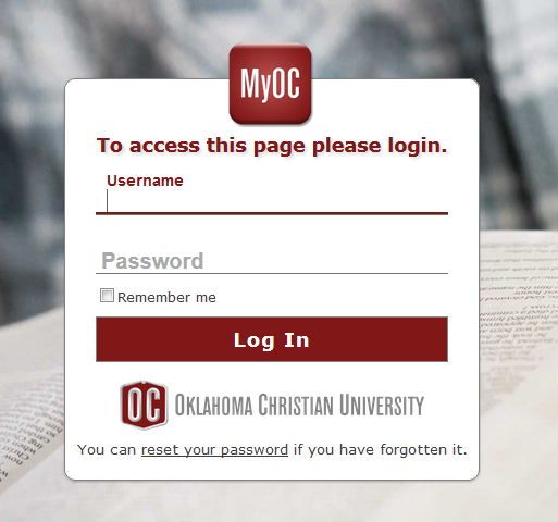 1. Log into Your MyOC Home Account