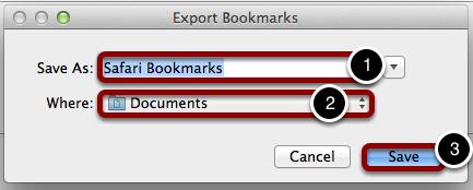 Choose Folder Name and Destination