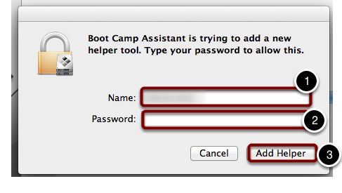 Enter Your Laptop's Admin Name and Password