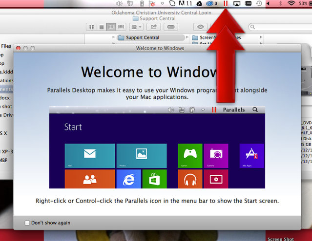 An Introductory Window Will Pop Up