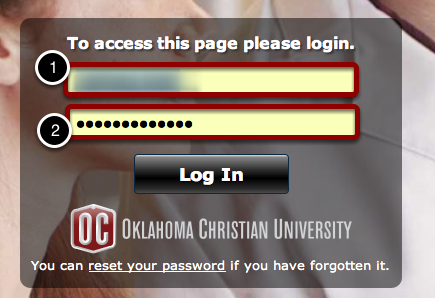 Sign in with OC Network Account Information