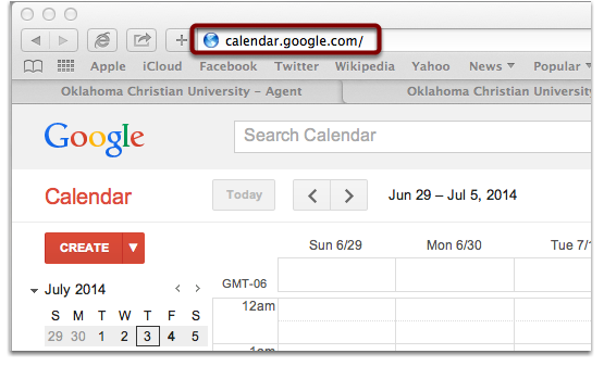 For Google Calendar: