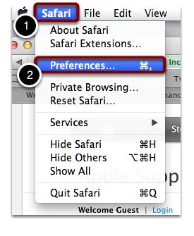 Safari Preferences