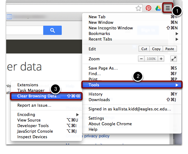 """""""Clear Browsing Data..."""""""